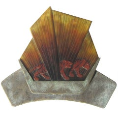 Gabriel Argy-Rousseau Pate de Verre Glass Lighted Wall Plaque