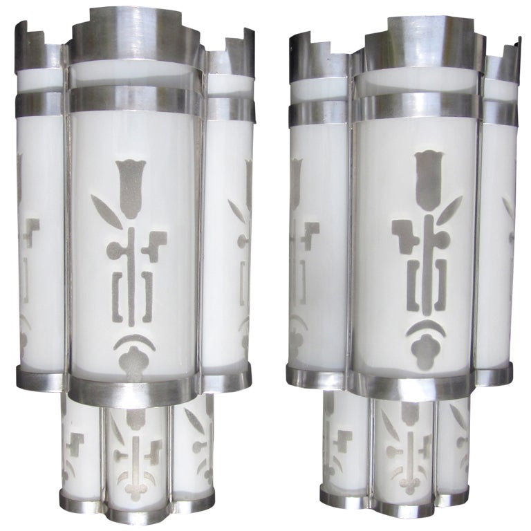 Art Deco Theater Wall Sconces : Art Deco Theater Wall Sconces at 1stdibs