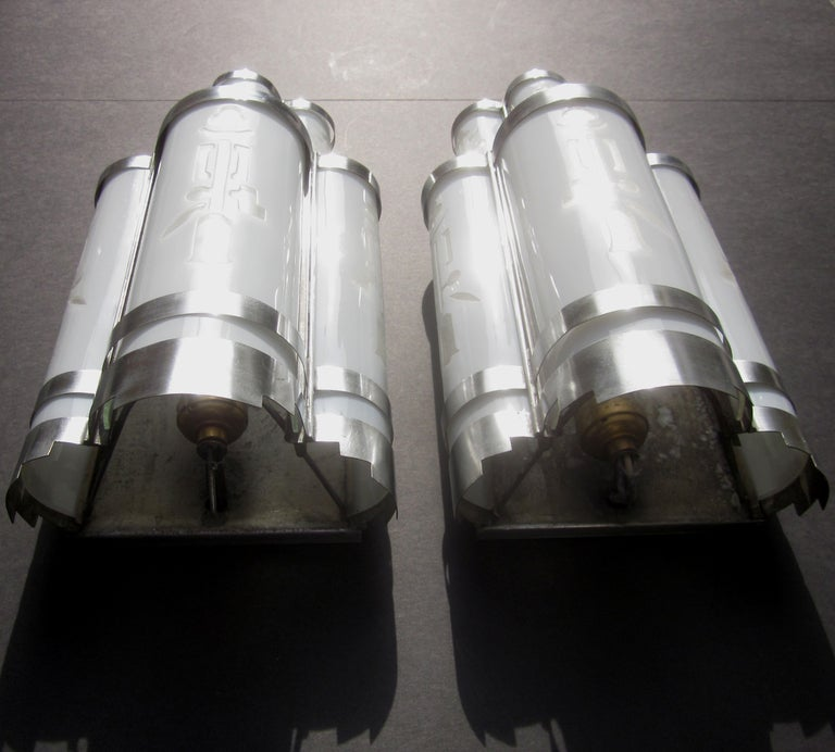 Wall Sconces Movie Theater : Art Deco Theater Wall Sconces at 1stdibs