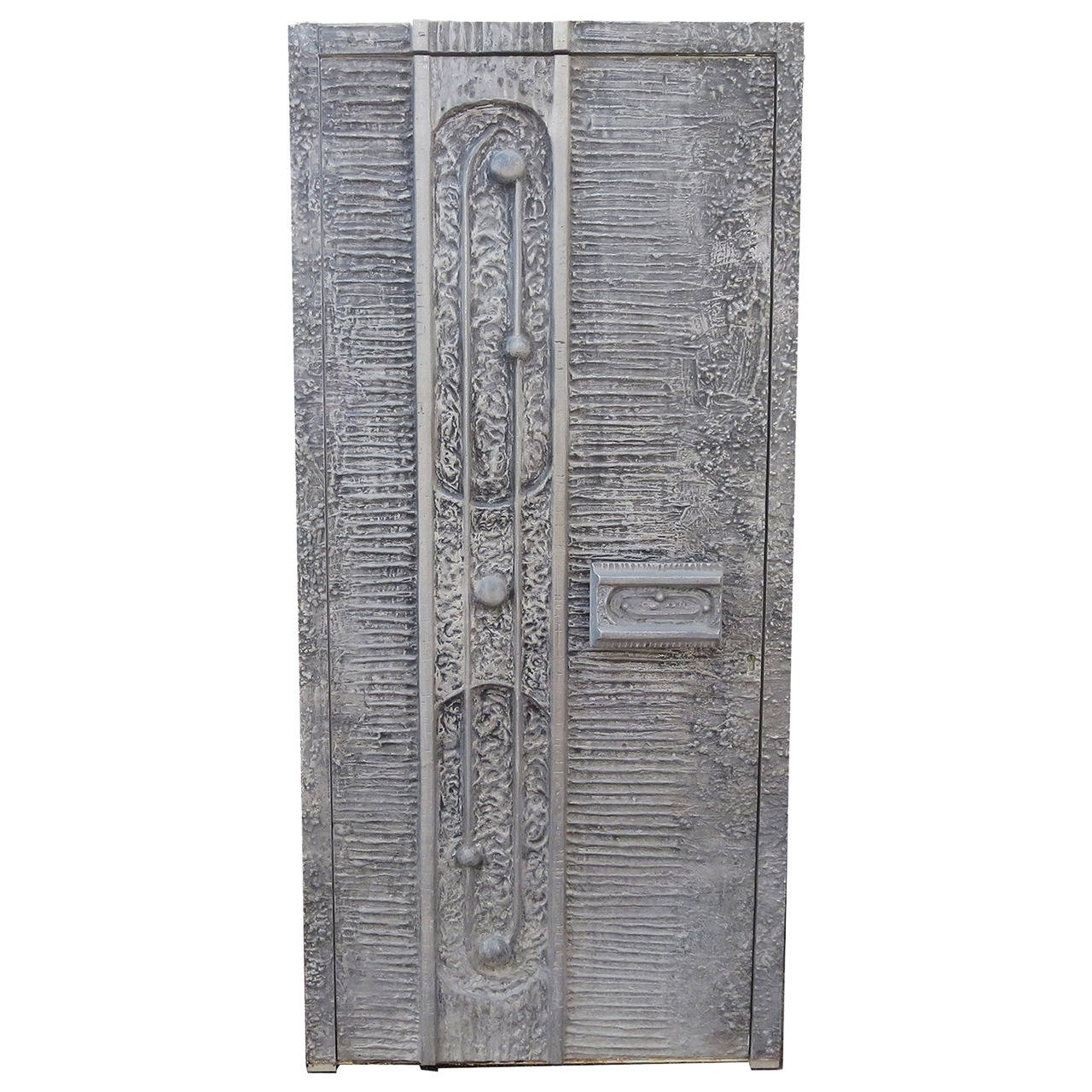 1970s Cast Aluminum Door by Billy Joe McCarroll and David Gillespie For Sale