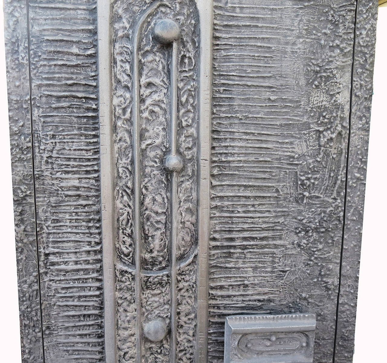 Mid-Century Modern 1970s Cast Aluminum Door by Billy Joe McCarroll and David Gillespie For Sale