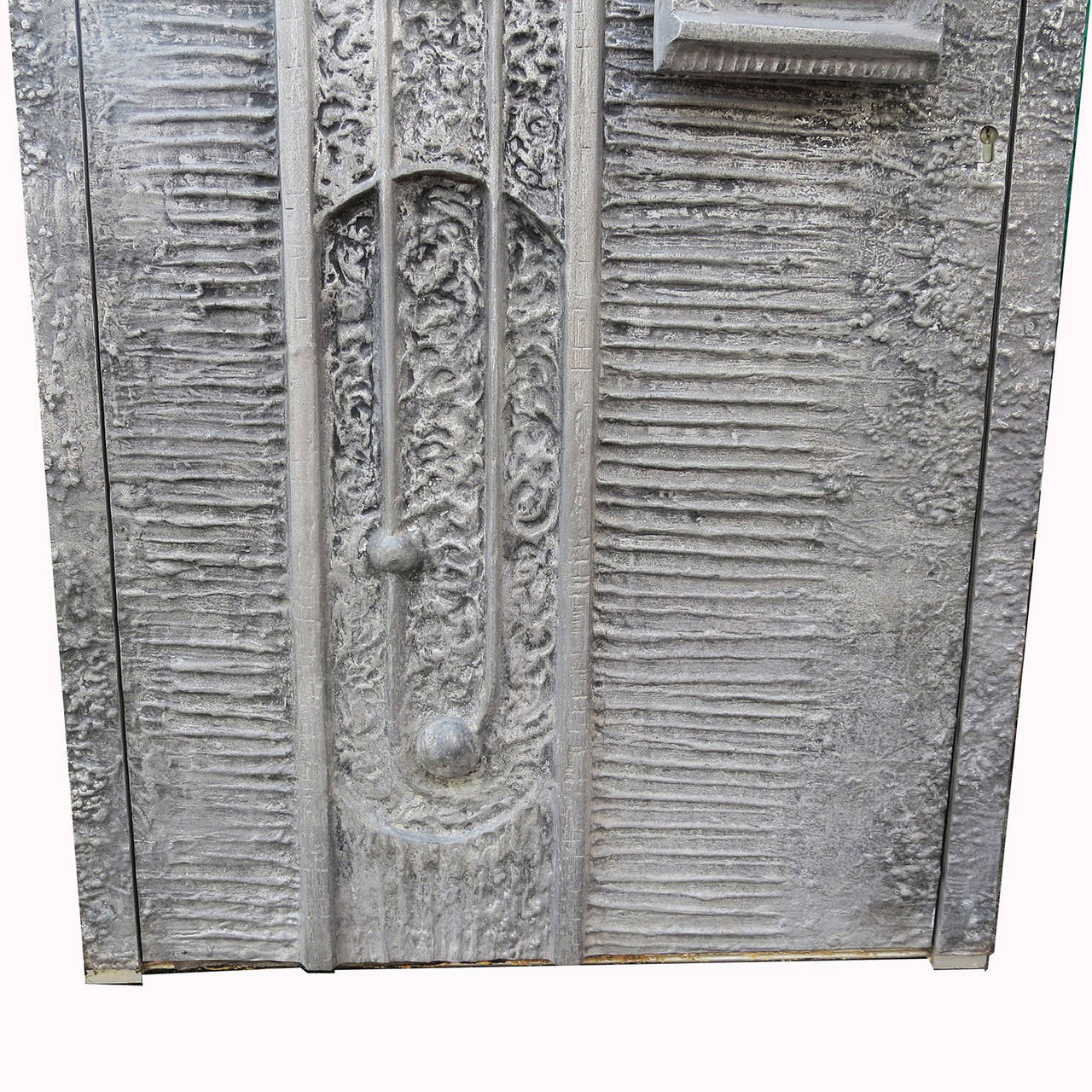 American 1970s Cast Aluminum Door by Billy Joe McCarroll and David Gillespie For Sale