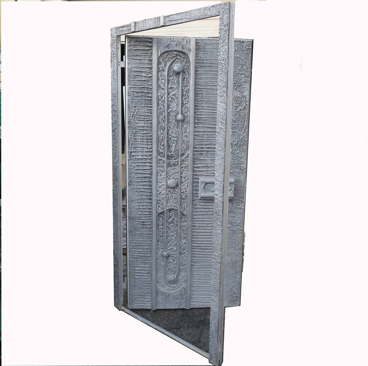 1970s Cast Aluminum Door by Billy Joe McCarroll and David Gillespie For Sale 1