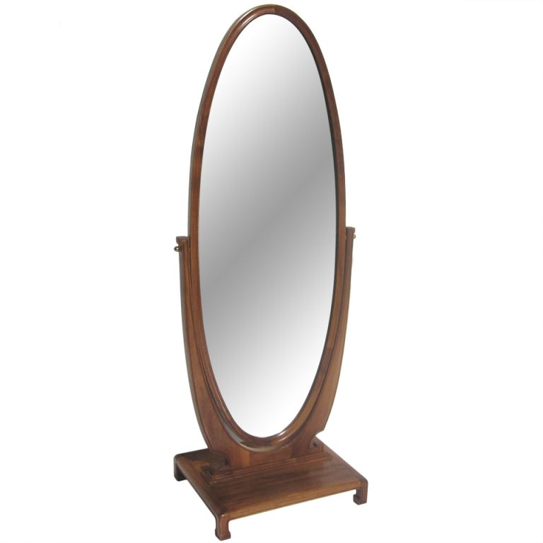 Art Deco Standing Cheval Mirror At 1stdibs