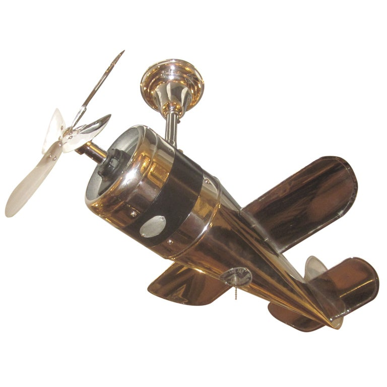 1930s Art Deco Airplane Ceiling Fan At 1stdibs