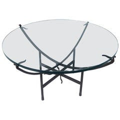 Elegantly Tasteful Iron and Glass Coffee Table