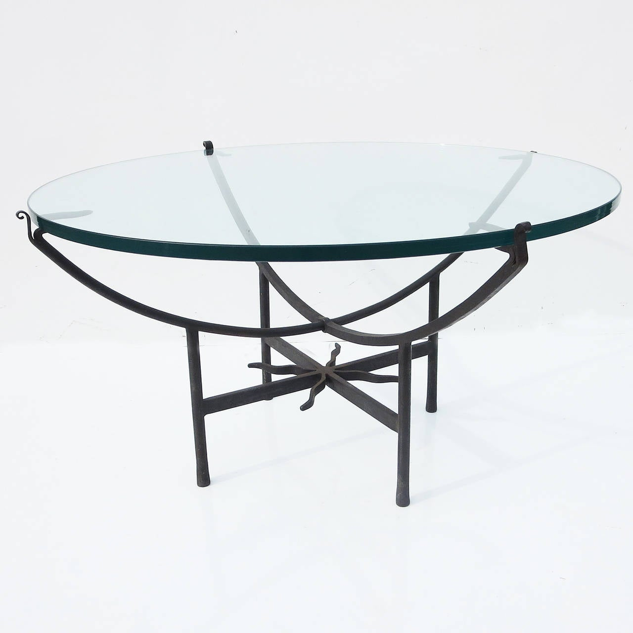Elegantly Tasteful Iron And Glass Coffee Table At 1stdibs