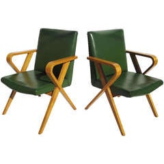 Stylized Bentwood Screening Room Chairs from Howard Hughes Studios