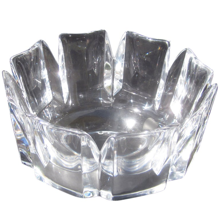 Orrefors Lead Crystal Bowl by Edvin Ohrstrom at 1stdibs : XXXbowl1a from www.1stdibs.com size 768 x 768 jpeg 85kB