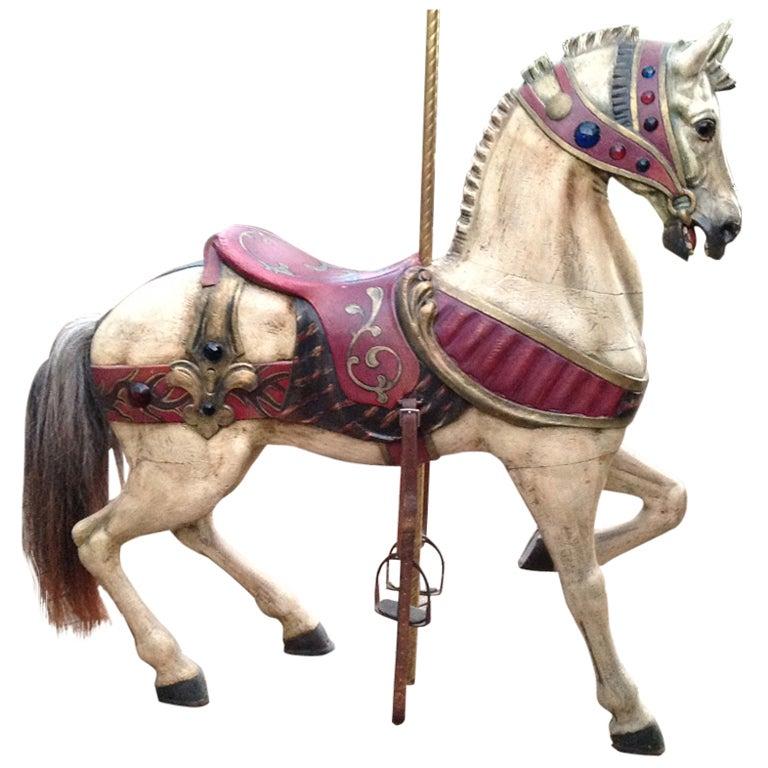 Turn of the Century Dentzel Standing Carousel Horse 1