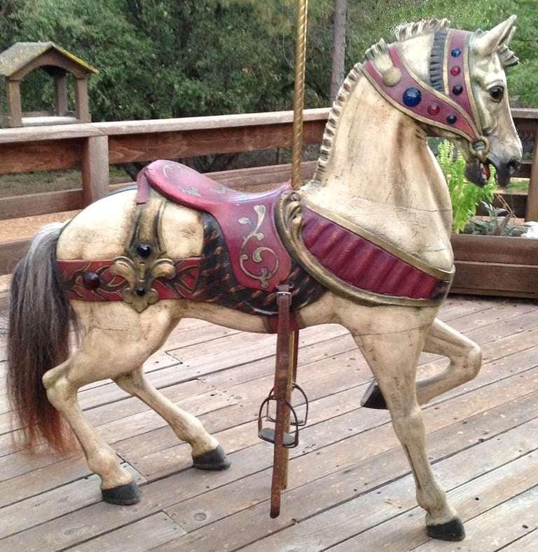 Turn of the Century Dentzel Standing Carousel Horse 2