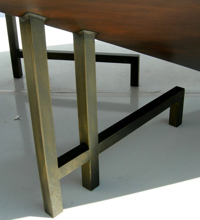 Modern Copper Coffee Table: Post Modern Brushed Copper Coffee Table At 1stdibs