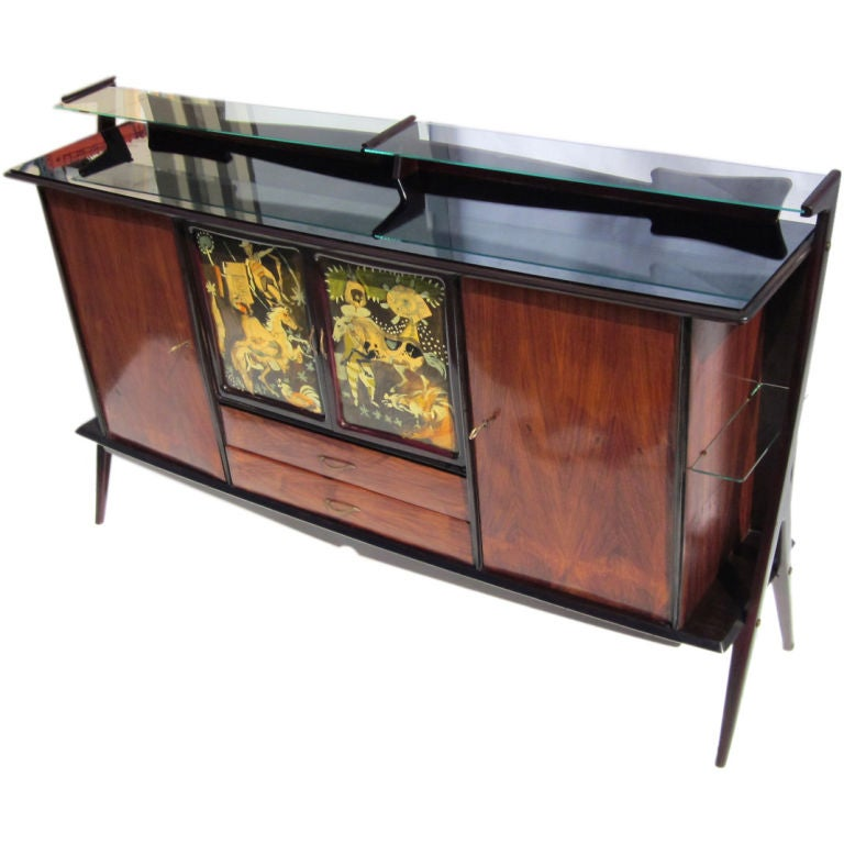 Mid-Century Italian Rosewood Cabinet by Sciccolone