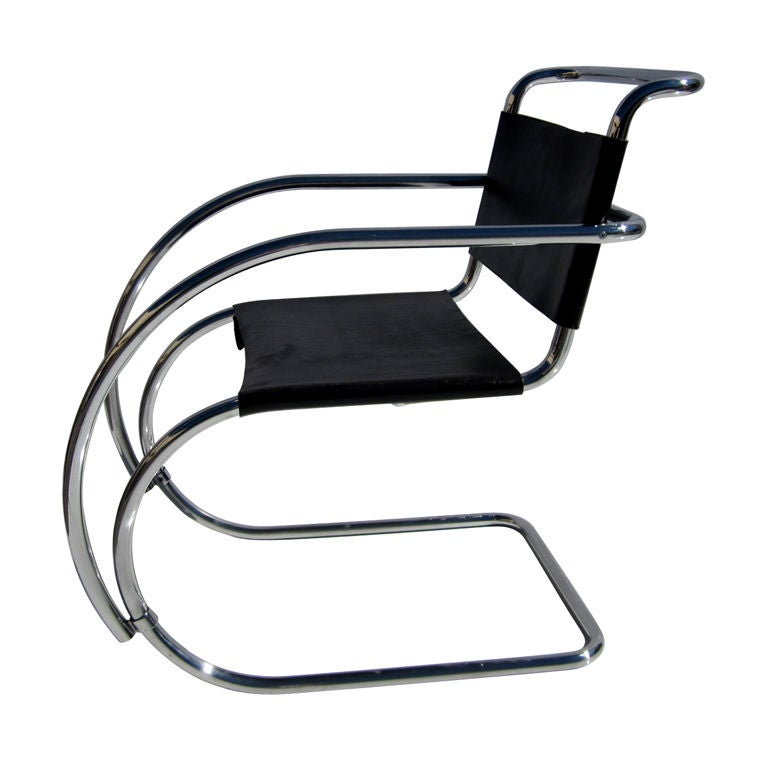 Early MR Armchair By Ludwig Mies Van Der Rohe For Sale