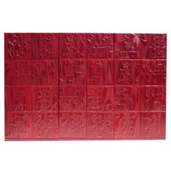 Sculpted Leather Wall Mural by artist Paul Wearing