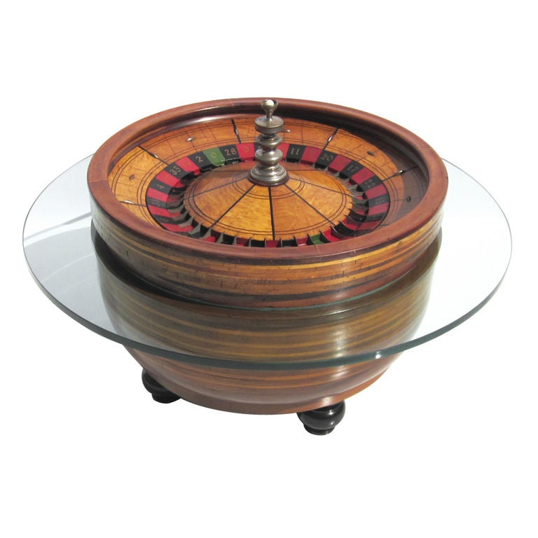Roulette Wheel Coffee Table 1