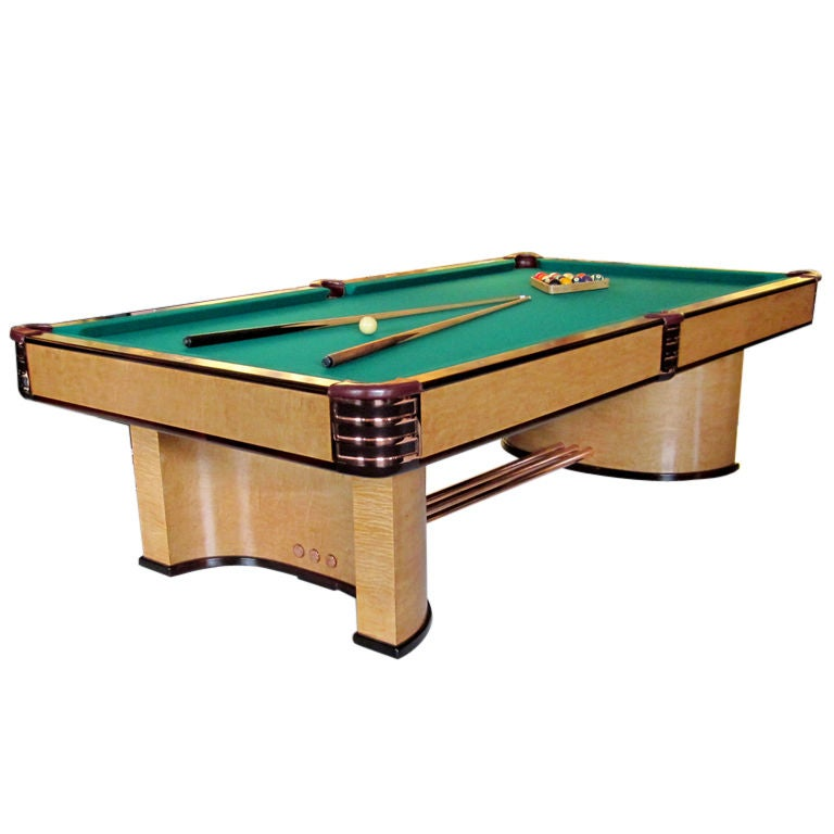 Donald deskey designed brunswick paramount pool table for for Brunswick pool tables