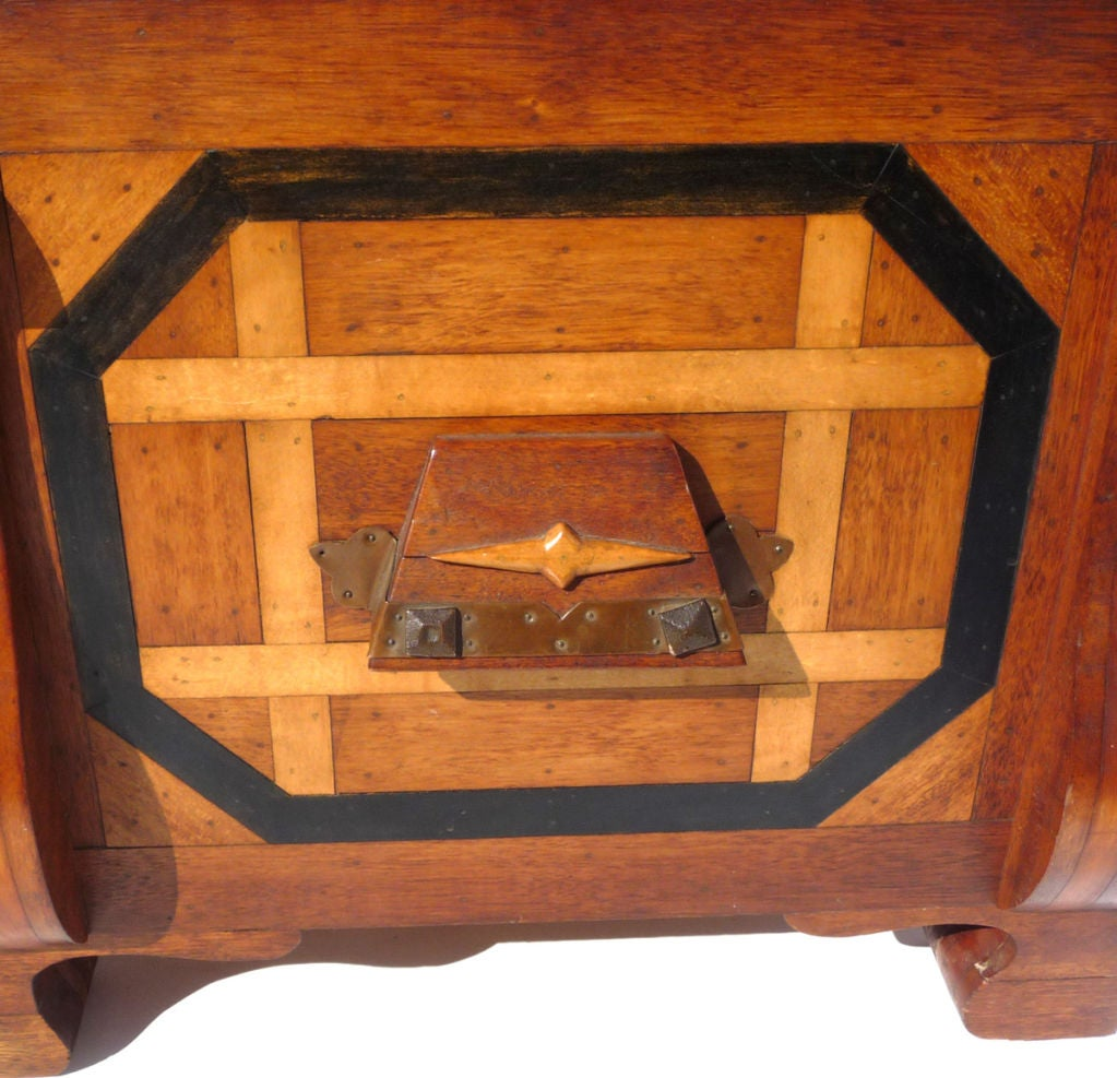 Phenomenal Parquetry and Brass Blanket or Hope Chest 6