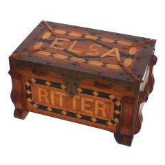 Phenomenal Parquetry and Brass Blanket or Hope Chest
