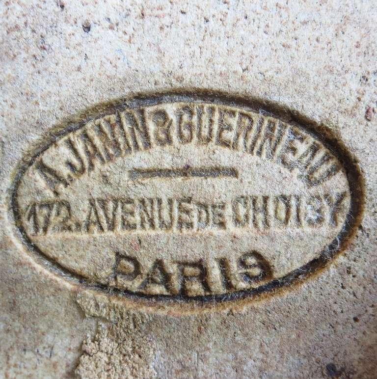 Monumental Art Nouveau Architectural Glazed Terracotta Head For Sale 5