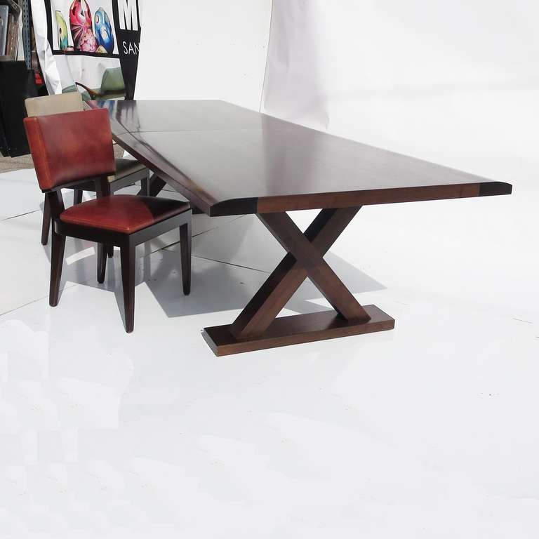 Massive Christian Liaigre Dining Table With Ten Chairs At