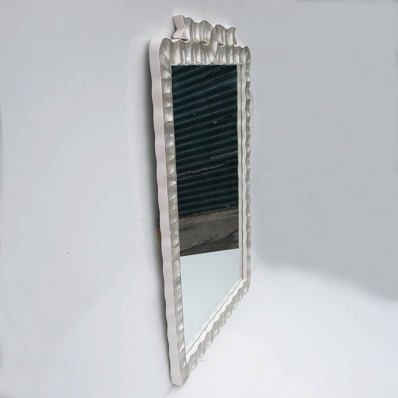 Large wall mirror in shell and acrylic frame for sale at for Large wall mirrors for sale