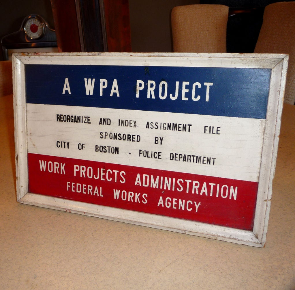 wpa project The wera was discontinued in 1935 with the introduction of the works progress administration the largest work relief program president roosevelt introduced was the works progress administration (wpa), later renamed the works projects administration.