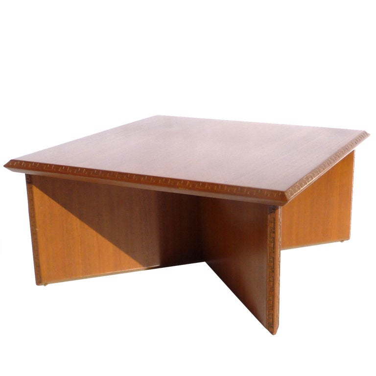 frank lloyd wright coffee table for heritage henredon at 1stdibs