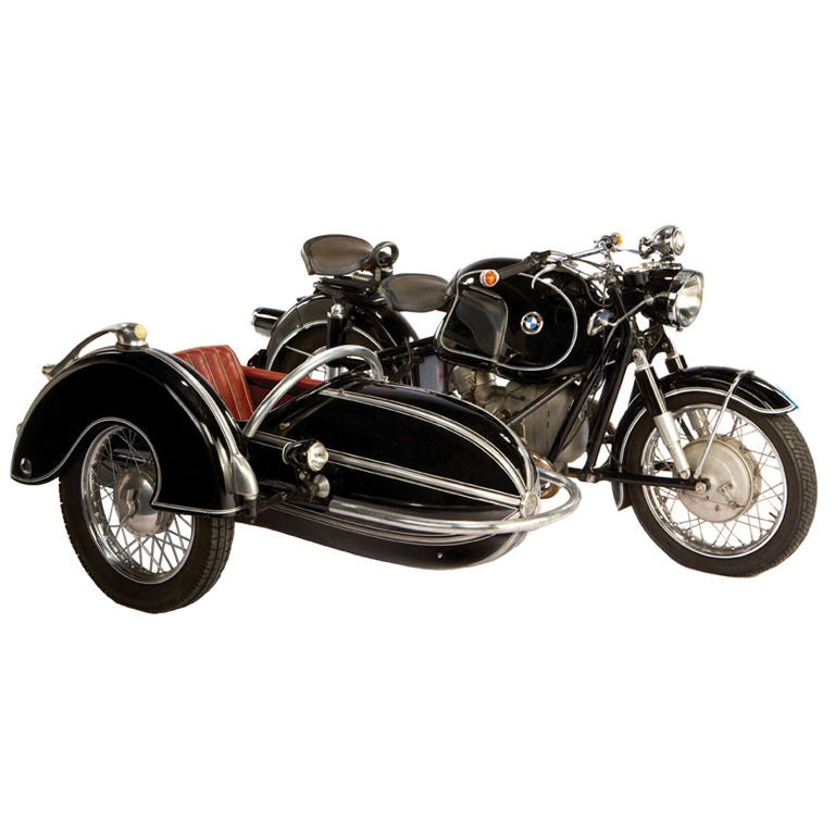 1958 BMW Motorcycle With Steib Sidecar At 1stdibs
