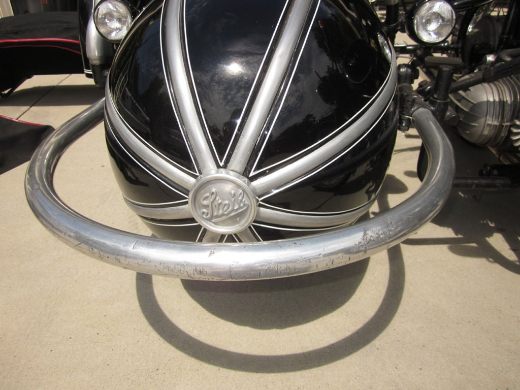 Mid-20th Century 1958 BMW Motorcycle with Steib Sidecar