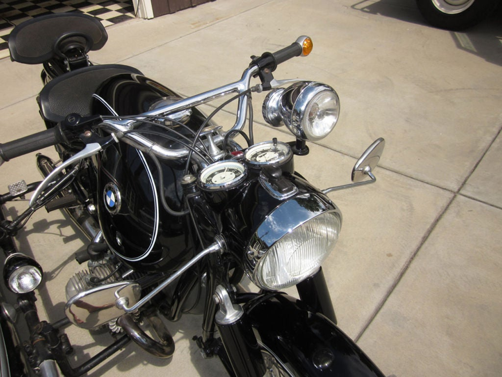 1958 BMW Motorcycle with Steib Sidecar 1