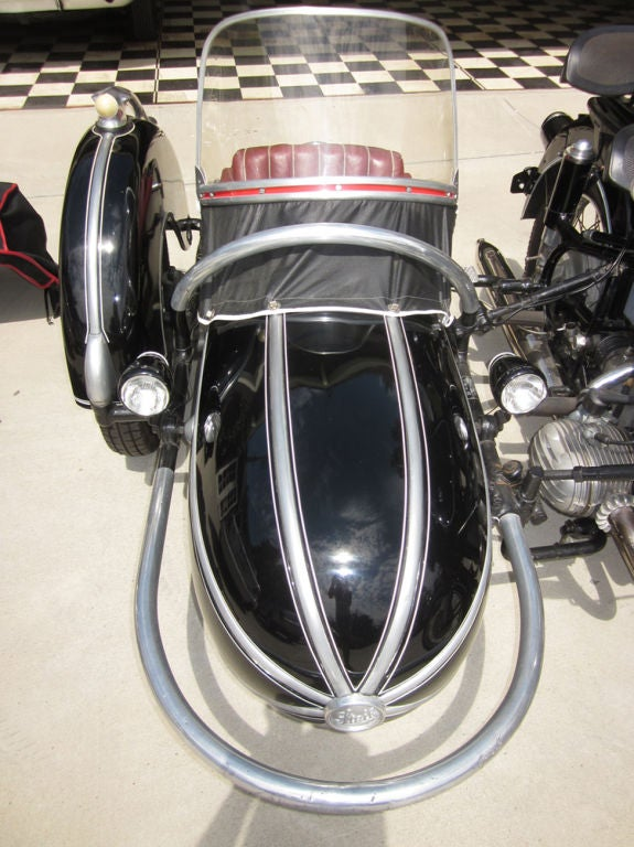 1958 BMW Motorcycle with Steib Sidecar 4