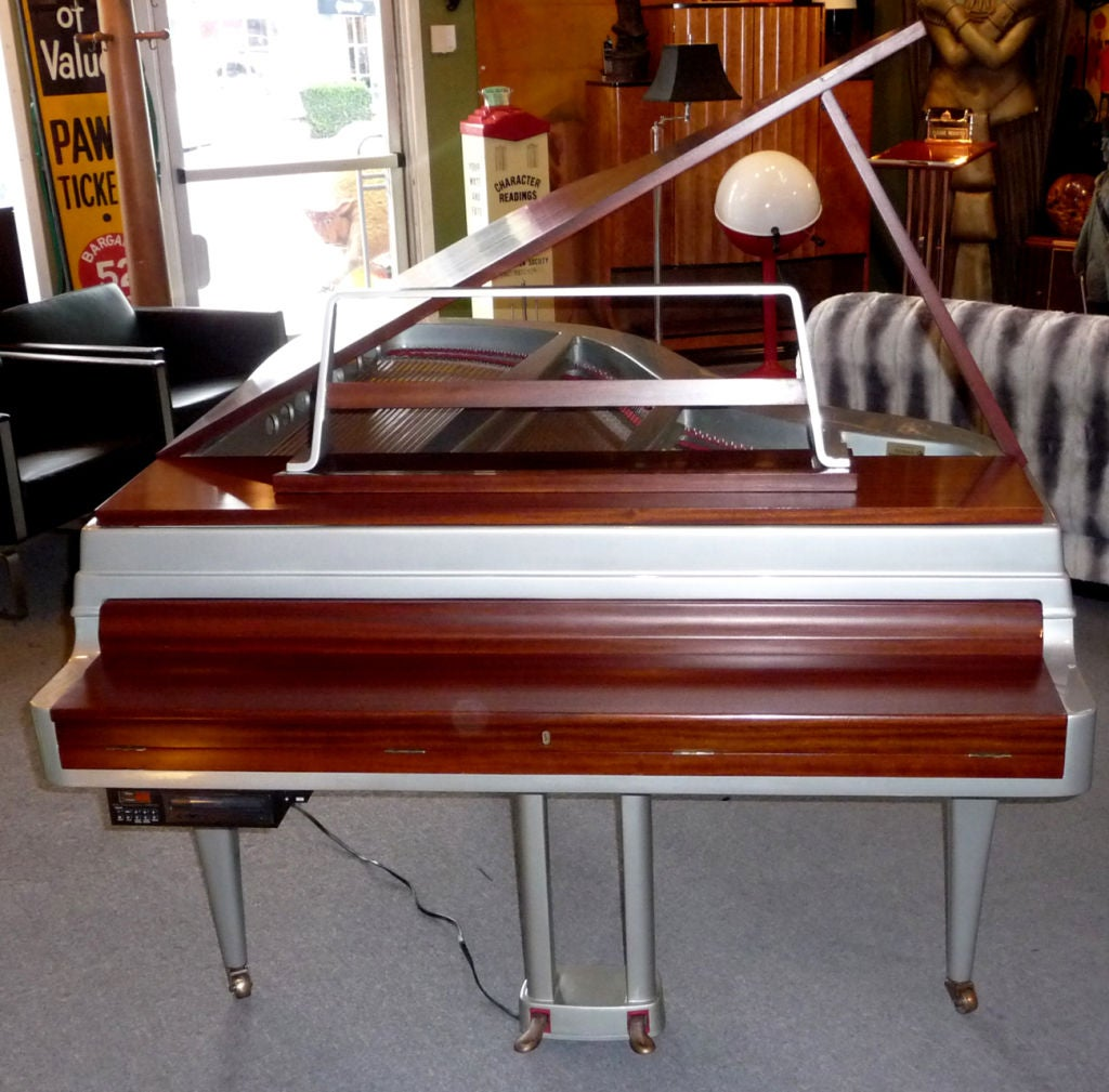 Mid Century Aluminum Grand Piano by Rippen 3