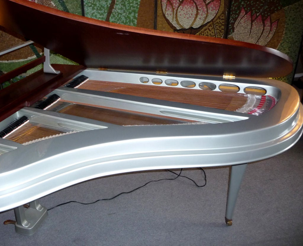 Mid Century Aluminum Grand Piano by Rippen 4