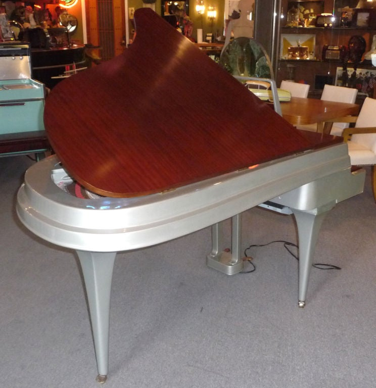 Mid Century Aluminum Grand Piano by Rippen 6