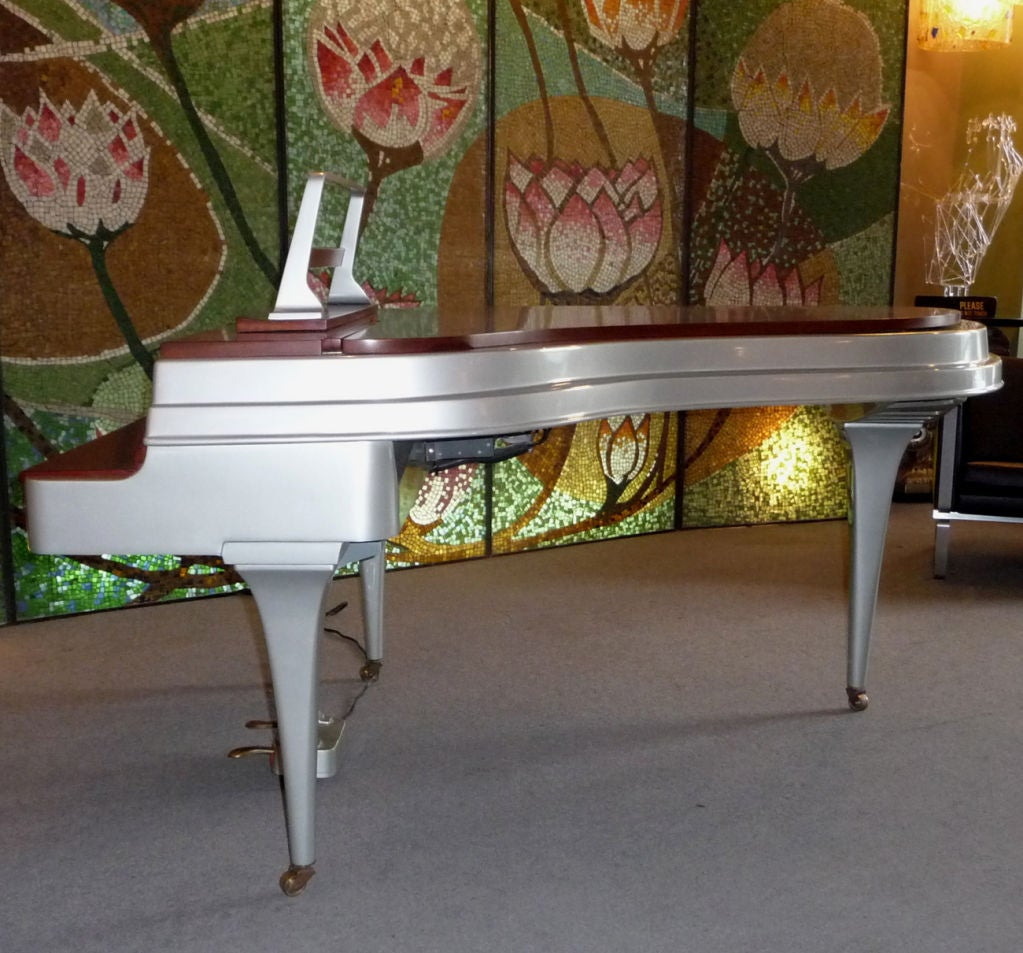 Mid Century Aluminum Grand Piano by Rippen 7