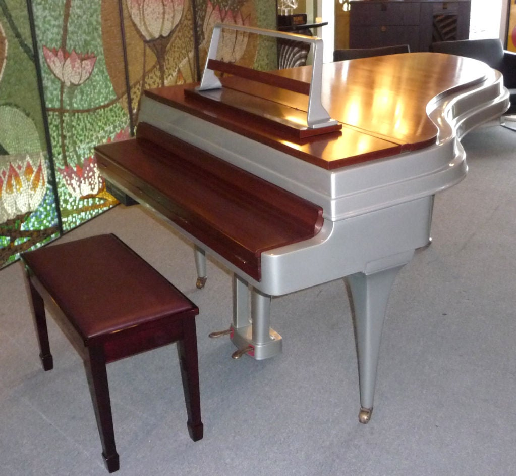 Mid Century Aluminum Grand Piano by Rippen 9