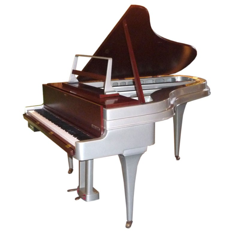 Mid Century Aluminum Grand Piano by Rippen 1