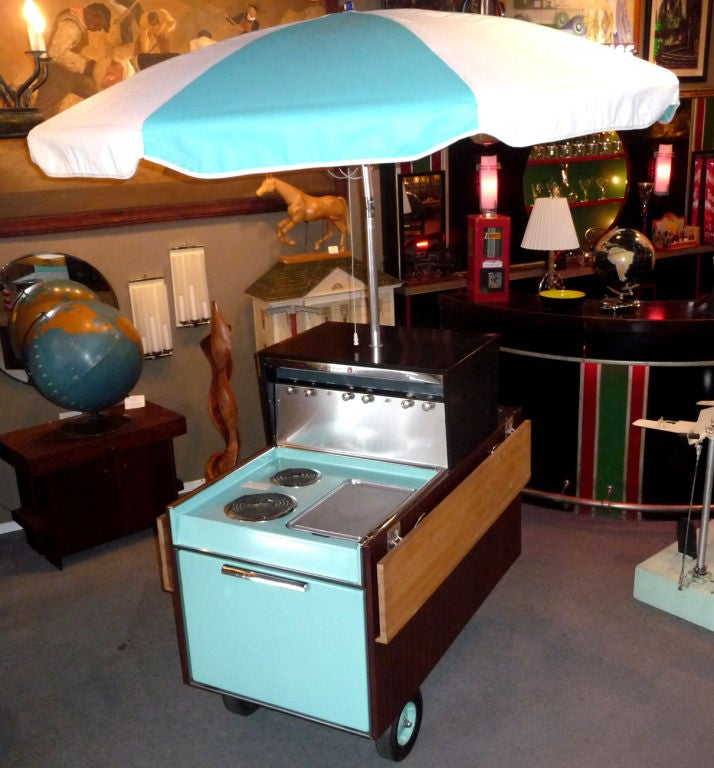 1956 N O S General Electric Quot Partio Quot Kitchen Bbq Cart