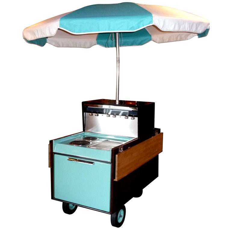 "1956 N.O.S. General Electric ""Partio"" Kitchen / BBQ Cart For Sale"
