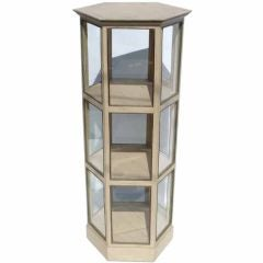 Super Charming Painted Hexagonal Display Cabinet