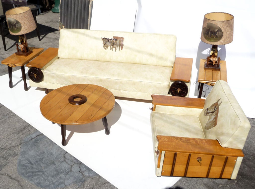 Western Themed Living Room Ensemble For Sale 5