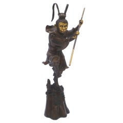 Large Bronze Statue of Sun Wukong Warrior
