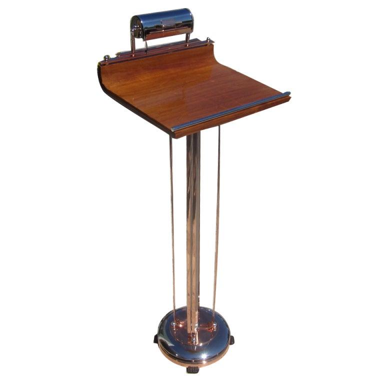 art deco lighted podium lectern or hostess stand at 1stdibs. Black Bedroom Furniture Sets. Home Design Ideas