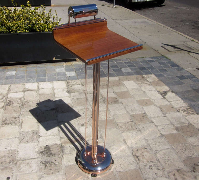 art deco lighted podium lectern or hostess stand at 1stdibs. Black Bedroom Furniture Sets. Home Design Ideas