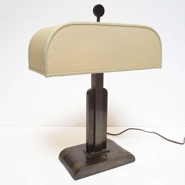 Art deco bronze table lamp by kem weber at 1stdibs a very fine and rare design by one of the masters of american moderne design aloadofball Image collections