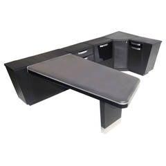 "Stylized Modular Mid Century ""Navy"" Desk"