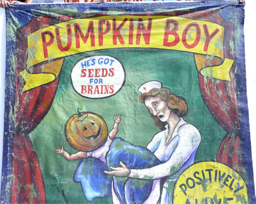 Pumpkin Boy Circus Side Show Banner 2