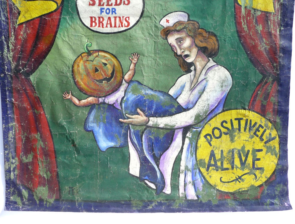 Pumpkin Boy Circus Side Show Banner 3