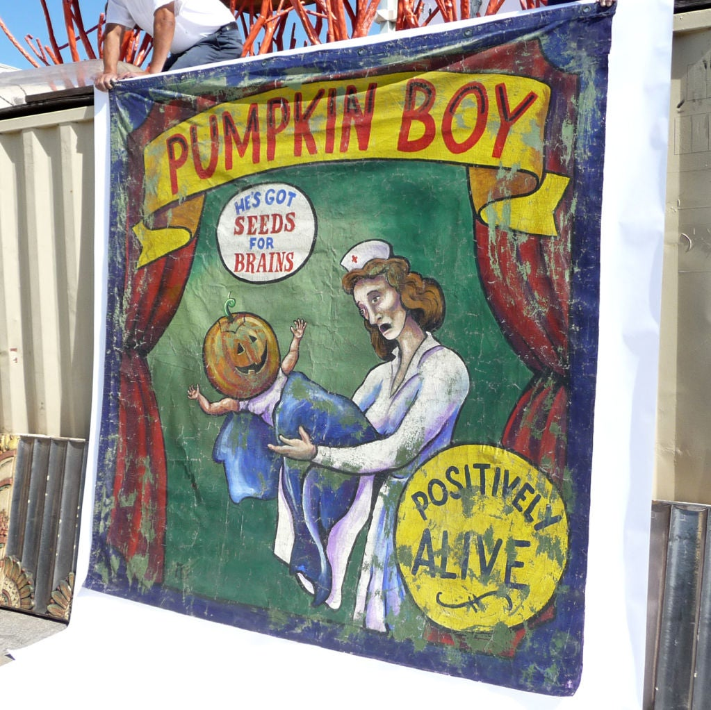 Pumpkin Boy Circus Side Show Banner 5